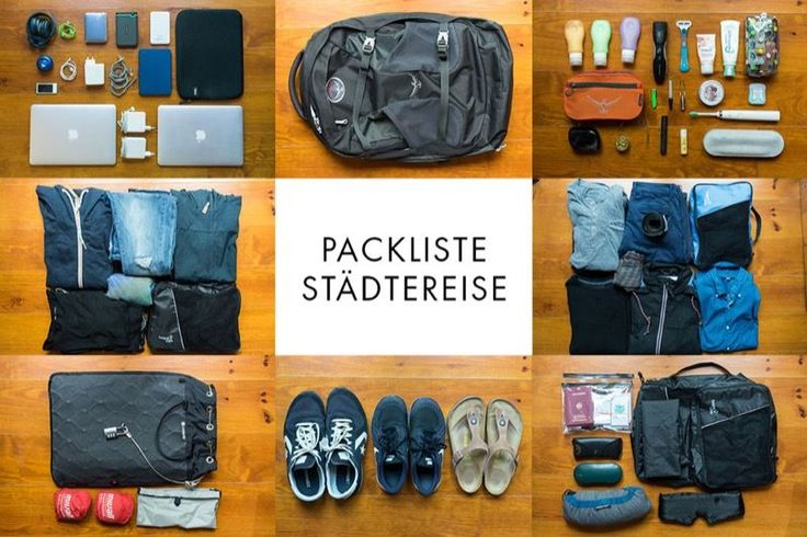 Städtereise Packliste