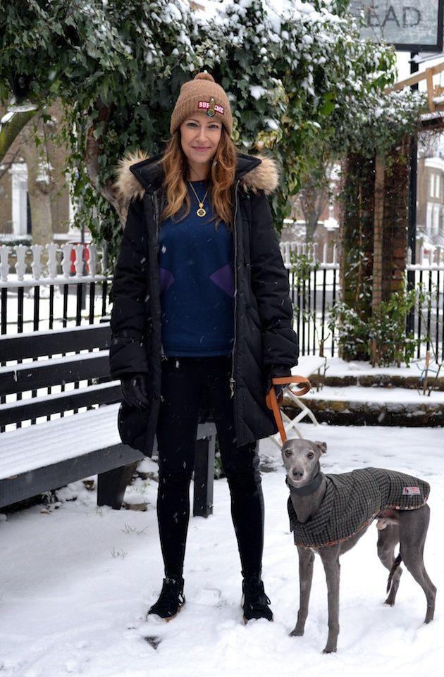 Tail Hunter Street Style Nikola Her Whippet Blue De Beauvoir East London Dog Fashion