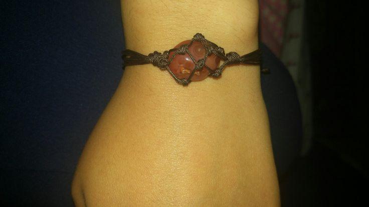 #takı #bileklik #makrome #kendinyap #DIY #wristband #akik #doğaltaş #jewelry