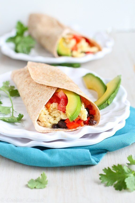 Healthy Breakfast : You'll Bounce Right Out of Bed For These Healthy Breakfast Wraps #Breakfast