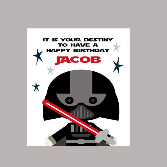 Star Wars Birthday Card, Geek Birthday Card, Darth Vader Birthday Card