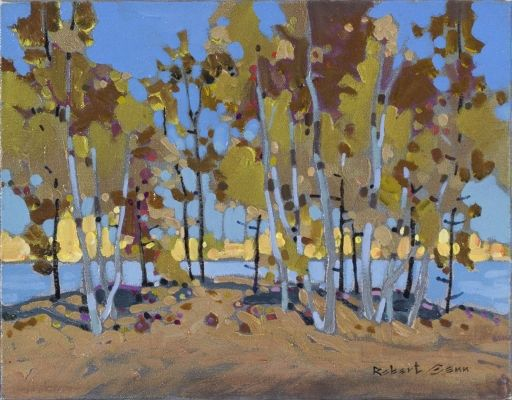 Grove With Yellow Green by Robert Genn