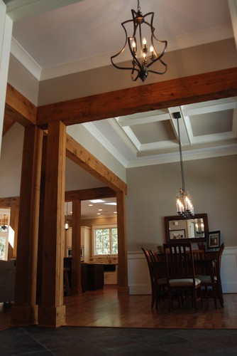 Entryway With Cedar Beams Olde South Homes Pinterest