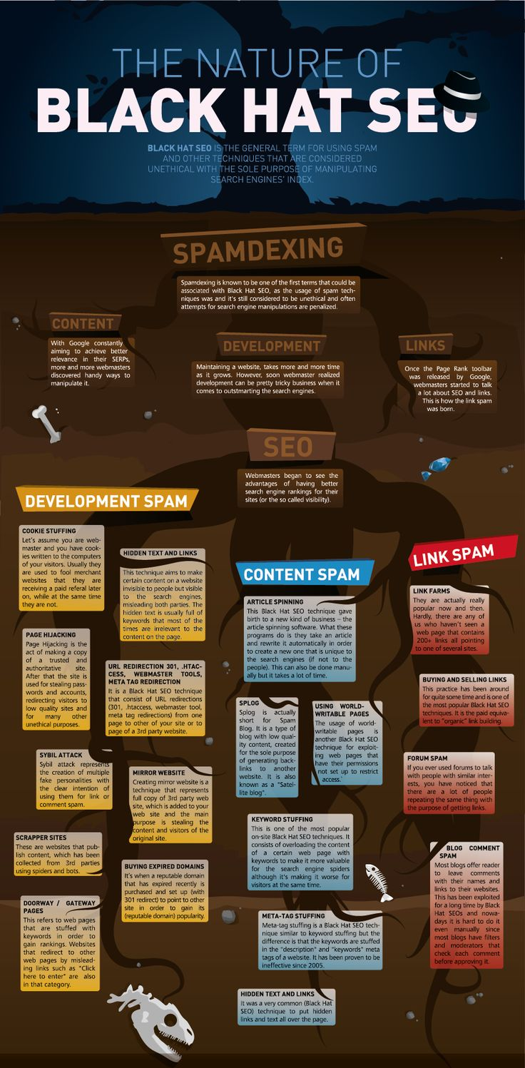 Do you know what is the nature of Black Hat SEO? #infographics #seo