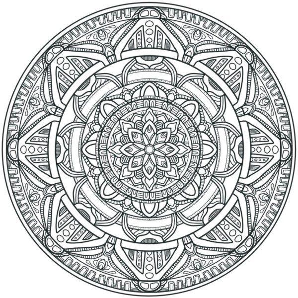 Mandalas Muy Dificiles Para Imprimir Y Colorear Acepta El Super Reto En 2020 Mandalas Para Colorear Mandalas Circulares Dibujo Mandala