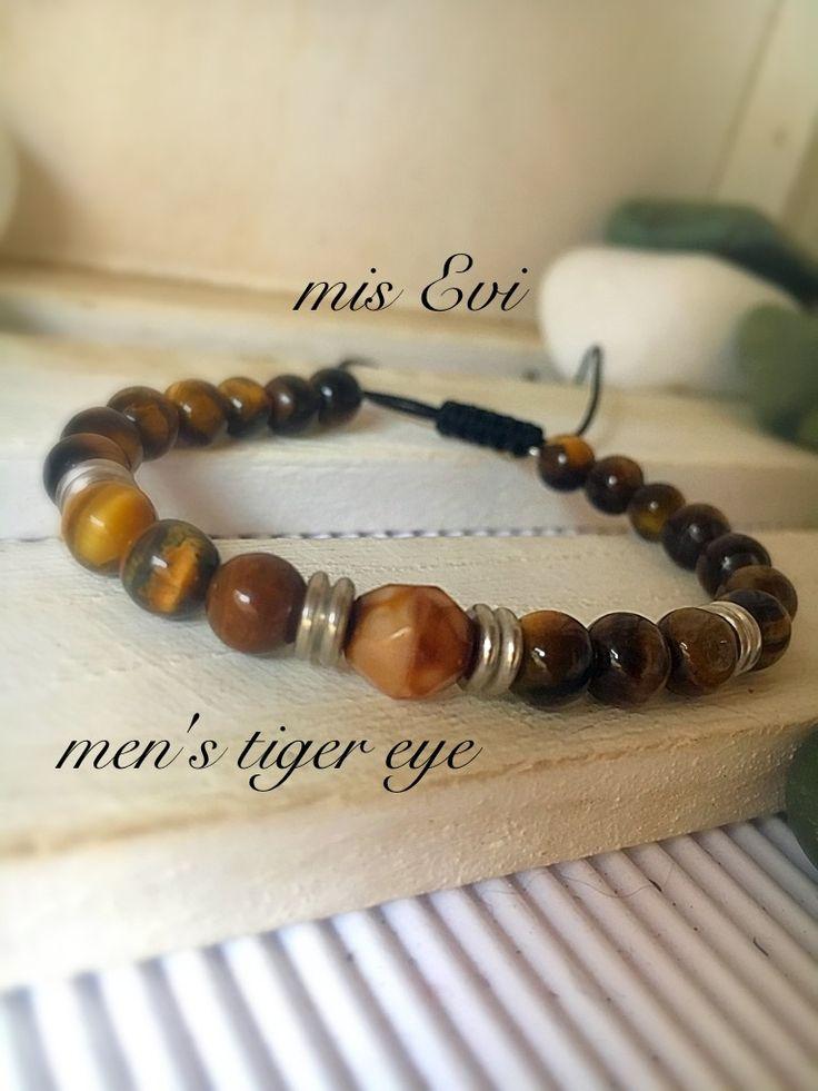Men's tiger's eye!!!! Handmade bracelets