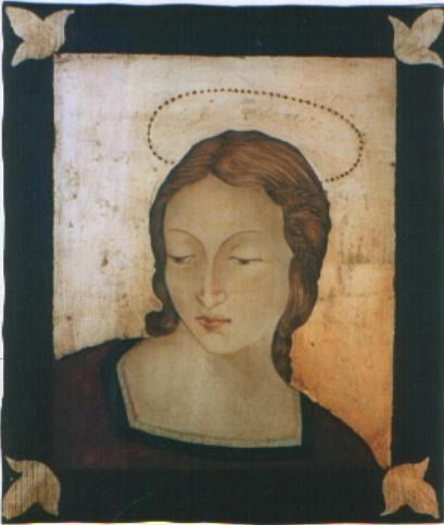 Icone lignee realizzate e dipinte a mano a tempera all'uovo.