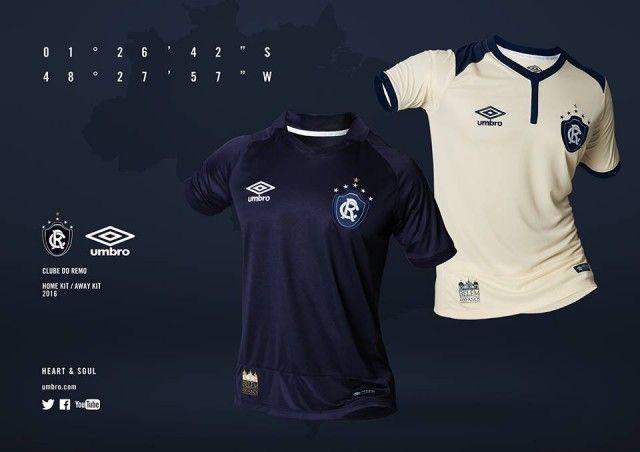 Camisas do Clube do Remo 2016 Umbro