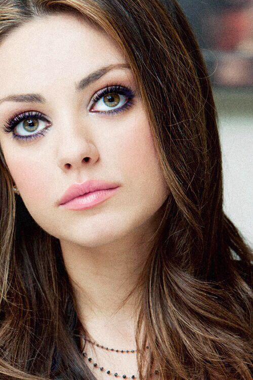 Mila Kunis - makeup and photo framing
