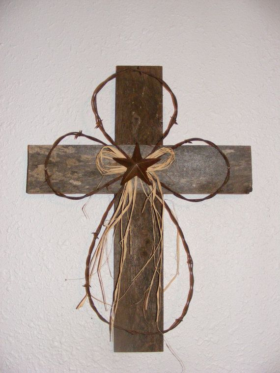 Rustic Wood Cross by arustictouch on Etsy