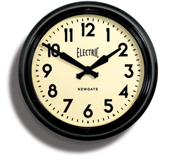 Giant 'Electric' Tin Wall Clock