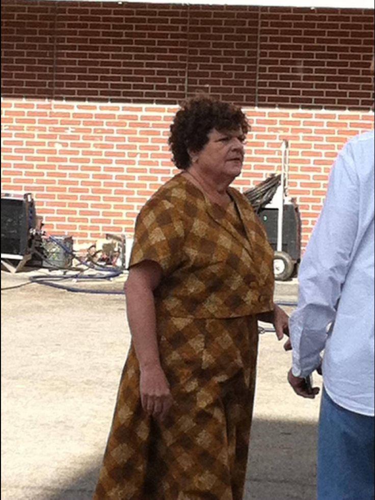 Mary Pat Gleason behind the scenes at Big Stone Gap