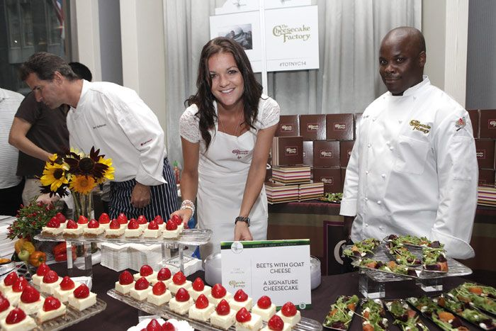 Tennis player Agnieszka Radwanska and Cheesecake Factory executive chef Jay Hinson served up the restaurant's signature sweet treat. The event also featured some of New York's most prestigious chefs including Marc Murphy of Landmarc, Zac Young of the David Burke Group, and Sebastien Chamaret of Bagatelle. Proceeds benefited City Harvest.  Photo: Thos Robinson/Getty Images for Taste of Tennis Week
