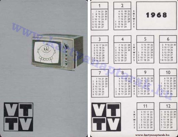 1968 - 1968_0221 - Régi magyar kártyanaptárak