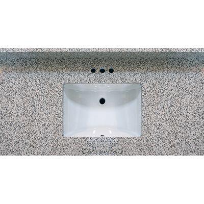 49x22 Pebble Beach Granite Vanity Top With Square Bowl