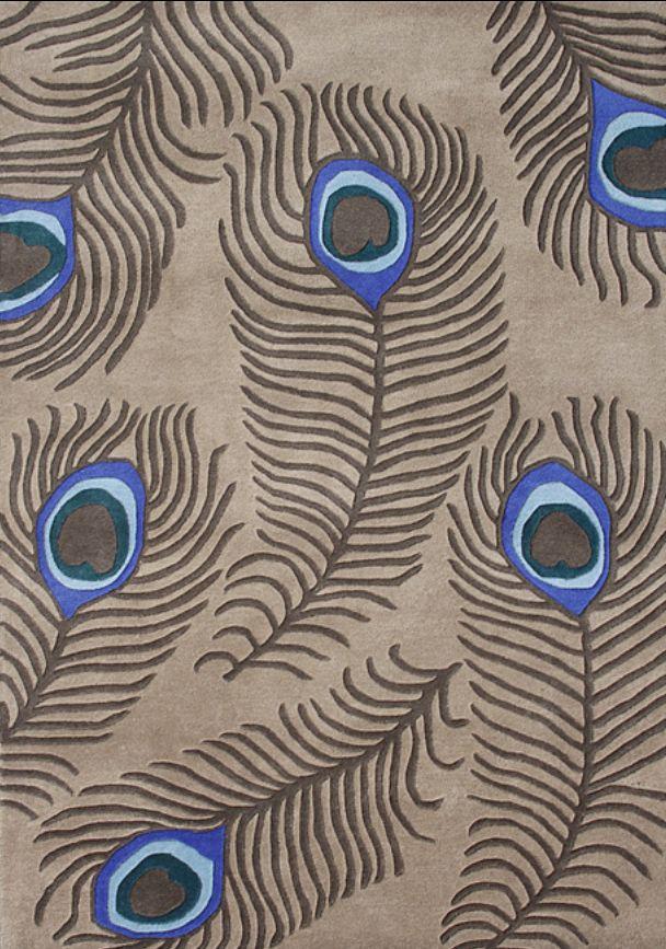 Rug Blue Taupe Pea Feathers