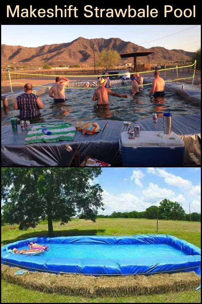 Straw Bale Pool Interesting Creative And Economical Way To