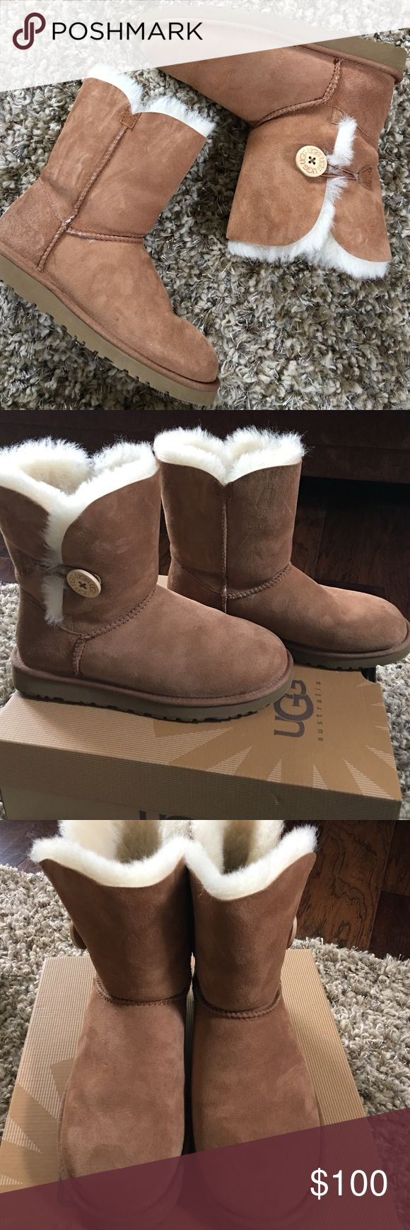 Ugh Bailey Button boots Ugg Bailey Button boot. Excellent condition, wore twice. Too big on me. Size 7. UGG Shoes Winter & Rain Boots