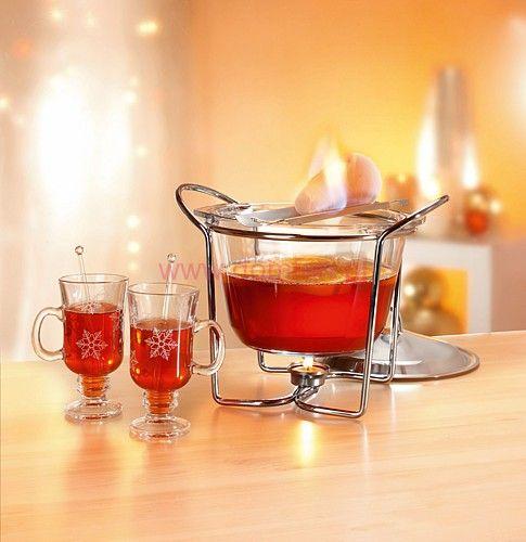 Grzaniec komplet + 4 szklanki