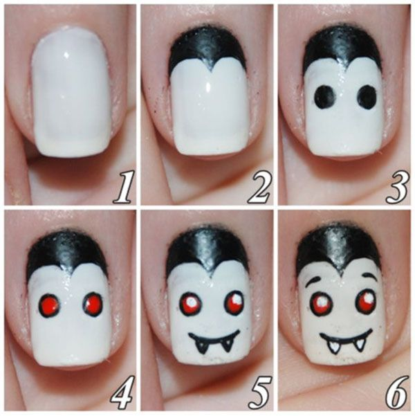 Uñas para Halloween de vampiro. #halloween #happyhalloween #halloweennails #uñashalloween #uñasdecoradas