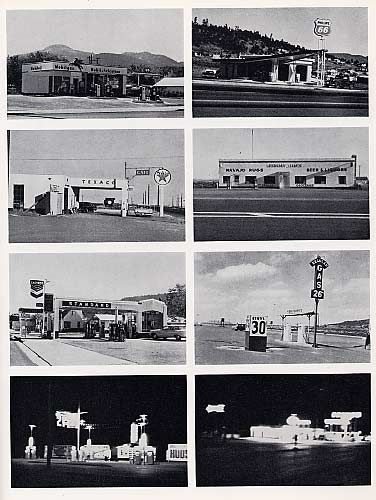 """If you like typography you have to look at Edward Ruscha's """"Twenty Six Gasoline Stations"""" & """"Every Building on Sunset Strip"""". Ruscha is better known as an artist associated with the pop art movement but photography has always played a central role in his work even when it is painting."""