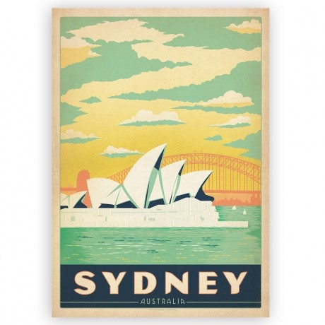 Temple and Webster Sydney Vintage Design Poster