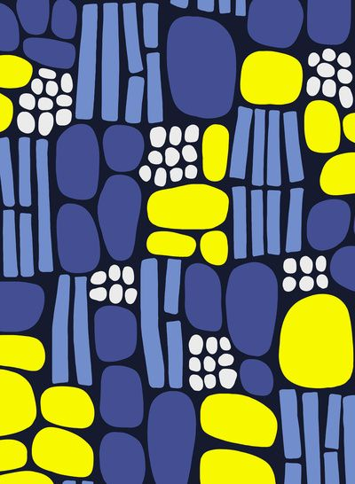 pebbles and sticks, by frameless blue yellow http://decdesignecasa.blogspot.it/