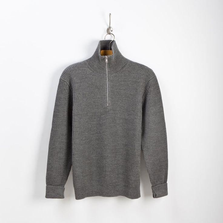 NAVY - half-zip - grey   Andersen-Andersen