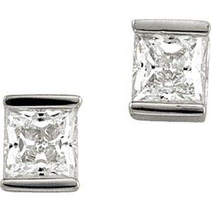 Sterling Silver Cubic Zirconia Earrings in Beaumont, TX  | Alter's Gem