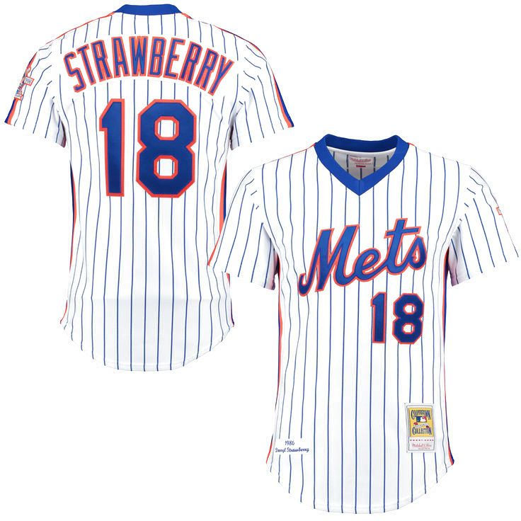 Darryl Strawberry New York Mets Mitchell & Ness Throwback Authentic Jersey - White - $249.99