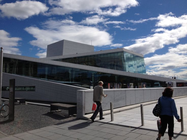 I went to Oslo, Norway with my mom last year by train for a day, to renovate my passport and we did a tour around the city, This is the Oslo's opera house, is very big and is you go up you can see the ciy and the sea.