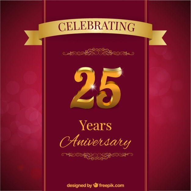 Download Twenty Fifth Anniversary Card For Free Anniversary Cards Visiting Card Design Happy Anniversary Cards