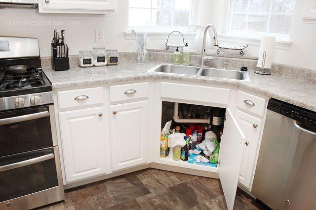 35 Best Inspiring Corner Kitchen Sink Cabinet Designs Ideas For Home Corner Kitchen Cabinet Corner Sink Kitchen Kitchen Corner Cupboard
