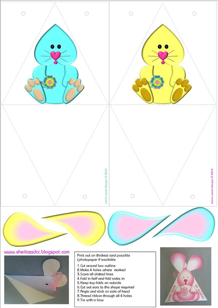 229 best easter bagsboxes envelopes images on pinterest free printable easter bunny box template ideal for candy negle Images