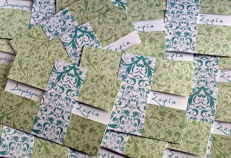 Χρώμα Μέντας (Mint Green) Προσκλητηριο Γαμου