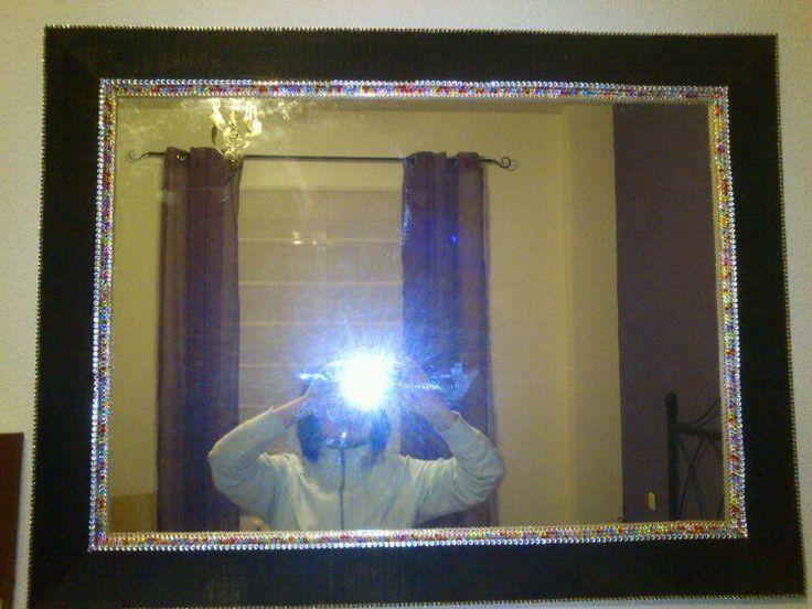 decoracion de marco de espejo