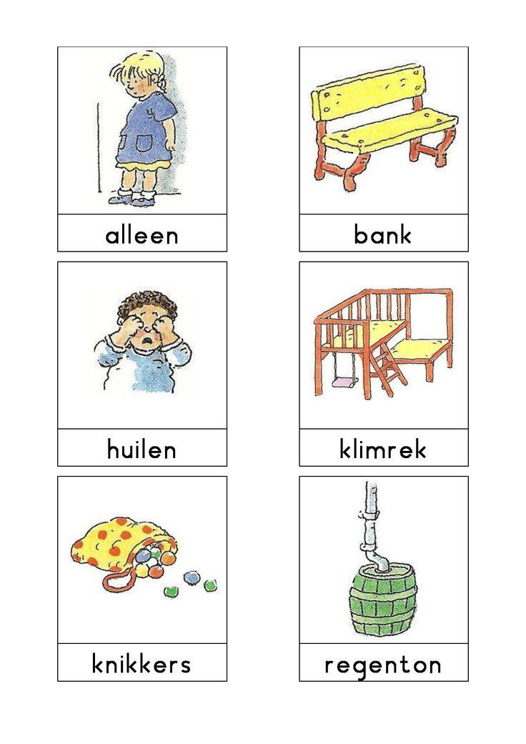 Woordkaarten Bas 'Het plein' 1
