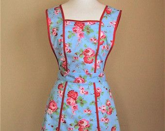 Retro Apron / Handmade Apron / Vintage Style by GardenPartyAprons