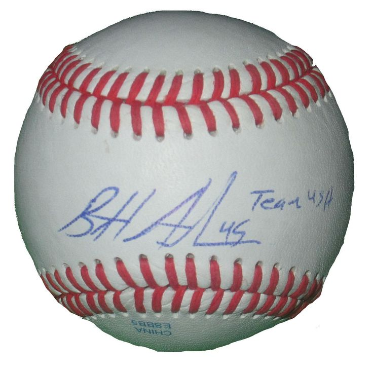 Brett Anderson Autographed Rawlings ROLB1 Leather Baseball w/ USA Inscription, Proof Photo