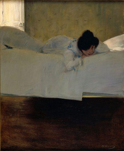 RAMON CASAS / Laziness / Circa 1898-1900 / Oil on canvas / love this