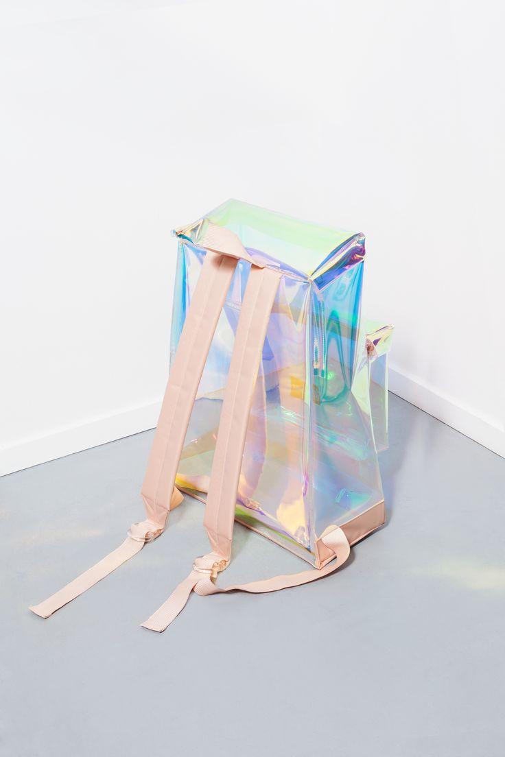 iridescent | mother-of-pearl | gleaming | shimmering | metallic rainbow | shine | Eastpak x Groos x Sabine Marcelis