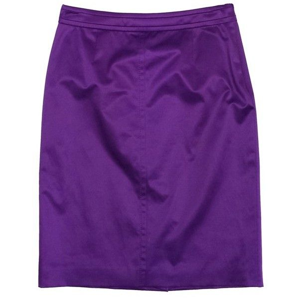 Pre-owned Hugo Boss Purple Satin Pencil Skirt ($89) ❤ liked on Polyvore featuring skirts, purple, knee length pencil skirt, pencil skirt, hugo, purple skirt and purple pencil skirt