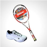 Racket,Wilson,Wilson Steam 99s Tennis Racket + Wilson M Tour Ceptor Ten... available online from Sports365.in #onlineshopping #Tennis #rackets #racquets #sports #accessories