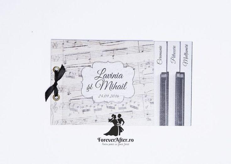 Invitatie de nunta tip carte Wedding Piano | Invitatii de nunta by ForeverAfter.ro