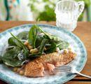 Recept: Zalm met sesamkorst en kikkererwtensalade