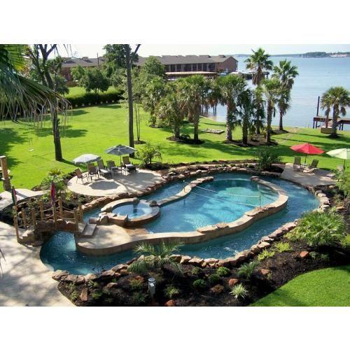 Custom swimming pool designs custom pool patio photos for Custom swimming pool designs