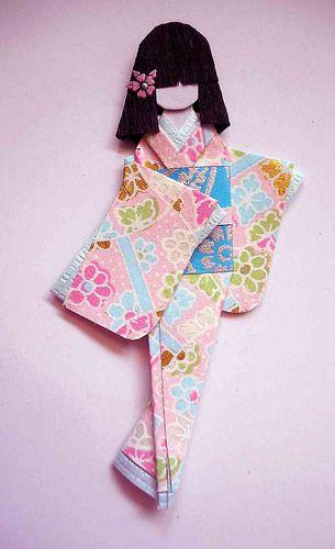 Japanese origami doll 5 | por tengds