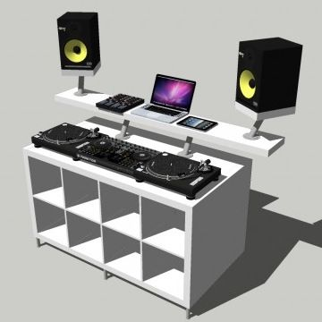 die besten 25 dj pult ideen auf pinterest dj pult tisch dj table ikea und audio m bel. Black Bedroom Furniture Sets. Home Design Ideas