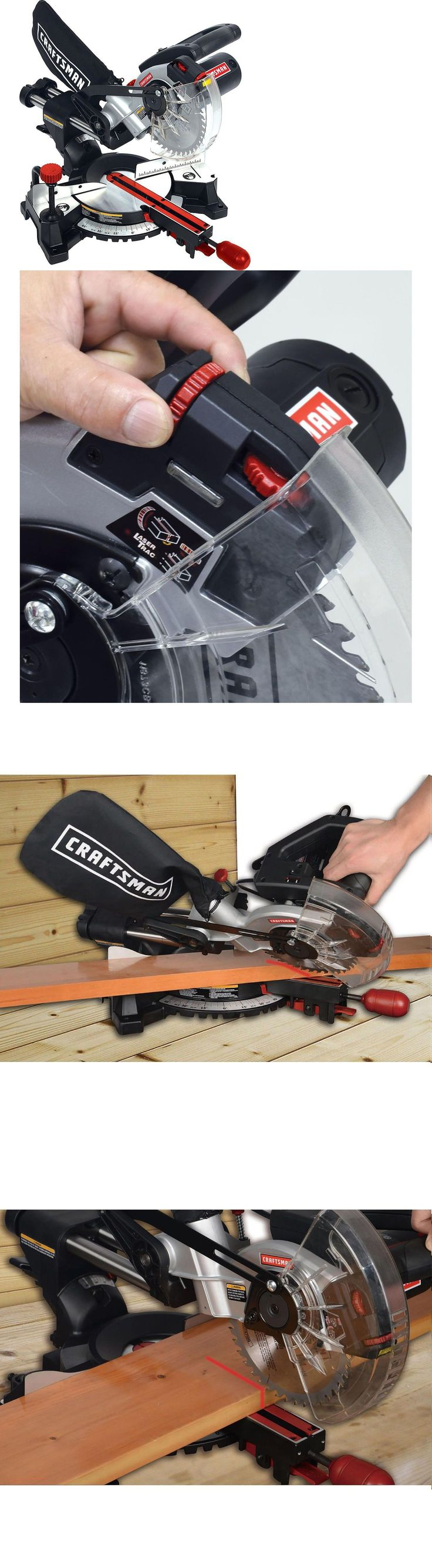 Miter and Chop Saws 20787: Craftsman 7 1 4 Inch Laser Trac Sliding Compound Miter Saw Bevel Sm1852rc New -> BUY IT NOW ONLY: $98.45 on eBay!