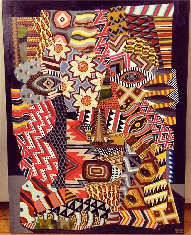Zio Ziegler Primitive Patterns-not sure if this is African inspired, but its close